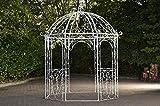 CLP Rosenpavillon Leila I Rankpavillion Aus Pulverbeschichtetem Eisen I Gartendekoration Im Jugendsstil, Farbe:antik weiß