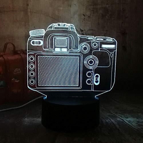 Nieuwe digitale camera 3D RGB LED nachtlicht multicolor creatief 7 kleuren USB bureaulamp decoratie kerstcadeau