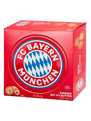 FC Bayern München Butter Cookies in Metalldose, 1er Pack (1 x 454g)