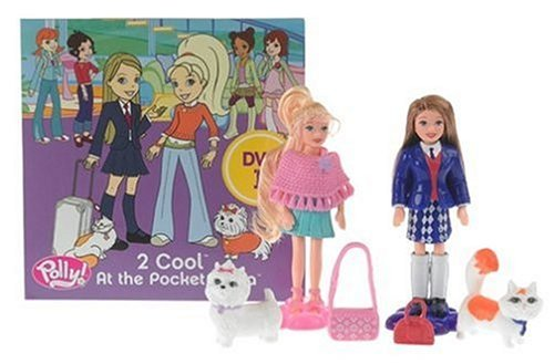 Polly Pocket - 2 Cool at Pocket Plaza - DVD with Polly and Pia Dolls and Fashions