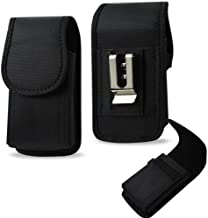 Vertical Canvas Case with Velcro Closure with Belt Clip and Belt Loop fits Straight Talk Hot Spot ZTE Z291DL