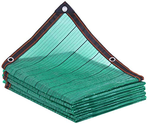 LBBGM Garden shade net, Shadow Net Sun Protection Net 80% Green, Flat Needle Sun Protection Net, UV Protection, Perforated Edge, For Garden Balcony Car Roof Fruit(6x8m(19.6x26.2ft))