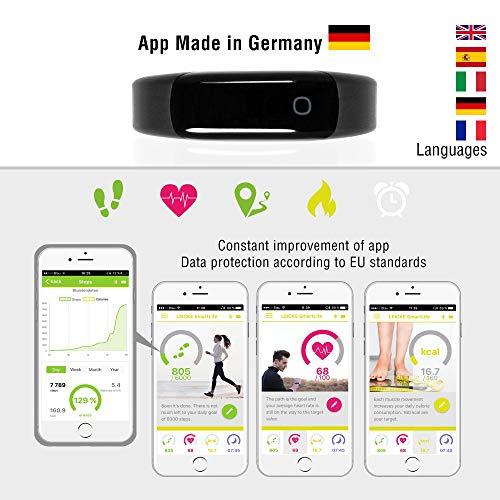 Sharon Fitnessarmband Pulsuhr, Schrittzähler und Schlaftracker, Weckfunktion, Saunafest und Wasserdicht (IP68), Smartphone kompatibel für iOS und Android - 3