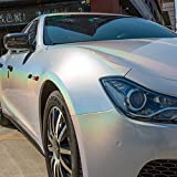 Easy to install 車カメレオンボディフィルムは、保護フィルム自動車用ステッカークロームホログラフィックビニールラップステッカーをカバーペイント (Color Name : 7C 02, Size : 1.52x5m)