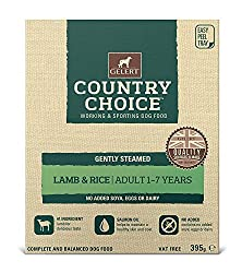 Gently steamed wet dog food with lamb and rice. 10 trays. No added soya, eggs, or dairy. Composition: Lamb 32%, Chicken 30%, Brown Rice 6%, Salmon Oil 0.33%, Seaweed, Mixed Herbs, Glucosamine, Chondroitin, Yucca Extract, Cranberry Extract, Yeast Extr...