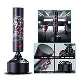 Bolsa de Boxeo Sanda Boxeo Vertical de Bolsa Adulto Vaso de Boxeo aparatos de Gimnasia de Entrenamiento en casa de Taekwondo de los niños (Color : Black, Size : 45 * 45 * 180cm)