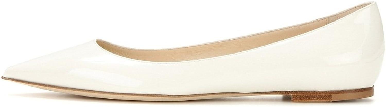 Kolnoo Damen Geschlossene Ballerinas Closed Toe Slipper Flats Schuhe