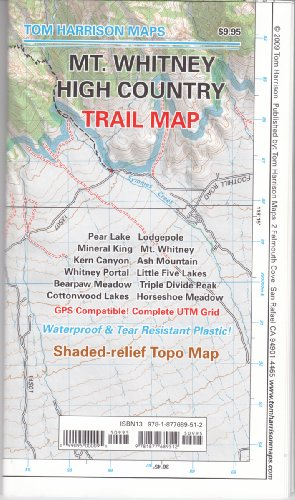 Mt. Whitney High CountryTrail Map (Tom Harrison Maps)