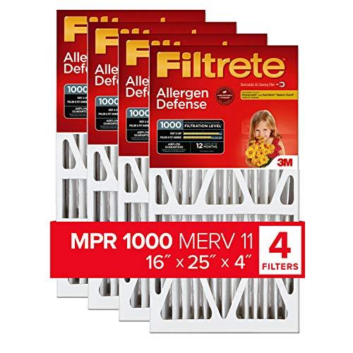 """3M COMPANY NADP01-4IN-4 Ultra Allergen Filter, 16"""" x 25"""" x 4"""" -  Filtrete"""