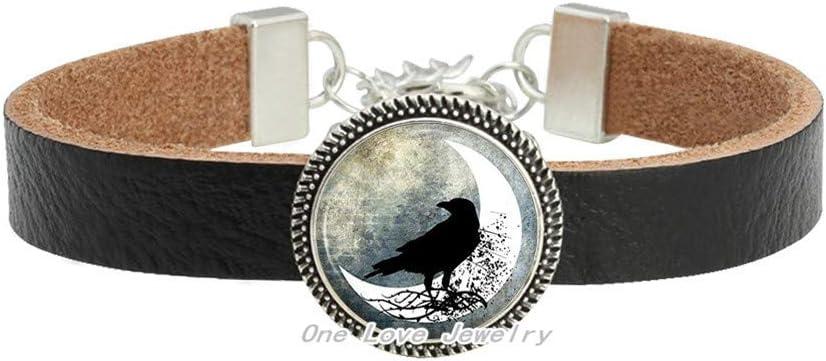 Raven Many popular brands Bracelet-Glass Bracelet-Black Crow Bracelet-Raven San Diego Mall Glass Br