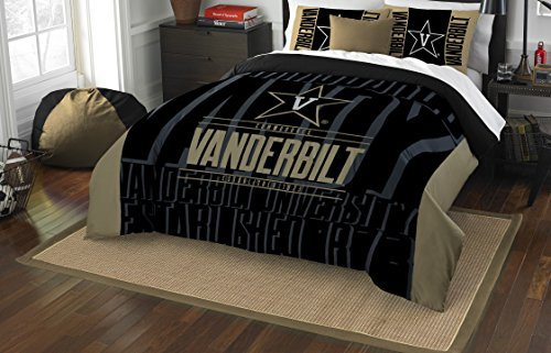 Vanderbilt Commodores Full Comforter and Sham Set, Full/Queen