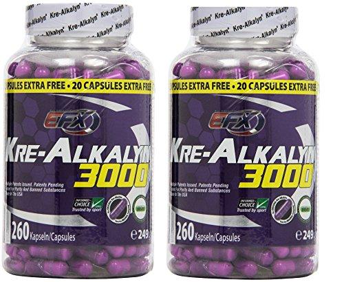 EFX Kre-Alkalyn 3000 - 260 Kapseln, 2er Pack (2 x 249 g)