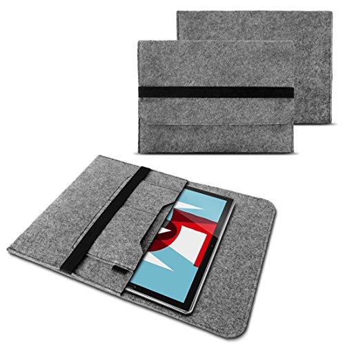 NAUC Sleeve Filz Hülle für Huawei MediaPad M5 Lite Tablet Tasche Schutzhülle Cover, Farben:Grau