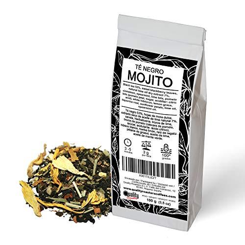 Quality Roasters Coffees Té Mojito Negro, Hierbas, Fruta, Hierbabuena, Limón, Aceite de Lima - 100g