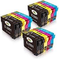 EBY Compatible Epson 29XL Cartuchos de Tinta con Epson Expression Home XP-245 XP-235 XP-247 XP-255 XP-345 XP-332 XP-342 XP352 XP432 XP-442 XP-445 XP-452 XP335 (6 Negro, 3 Cian, 3 Magenta, 3 Amarillo)
