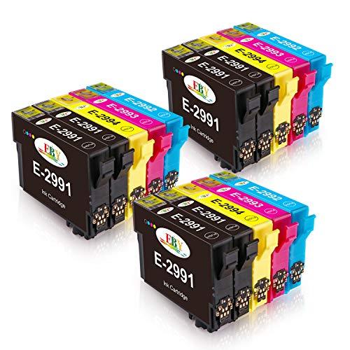 EBY 15 Packs compatibele EPSON 29XL inktcartridges compatibel met Epson Expression Home XP-235 XP-245 XP-435 XP247 XP432 XP332 XP342 XP335 XP442 XP345 XP445 XP455 (6 Zwart, 3 Cyaan, 3 Magenta,3 Geel)
