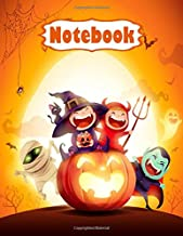 Halloween Notebook for Kids & Teens: Halloween Notebook Journal Funny Scary, With Glossy Cover| Paper, Wide-Ruled 110 Page...