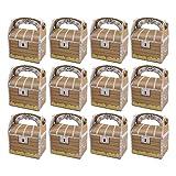 TOYANDONA Cajas de Regalo de Cofre Del Tesoro Cajas de Papel para Fiestas Cajas de Regalos de Fiesta Temática Pirata para Cumpleaños Y Eventos 24 Piezas