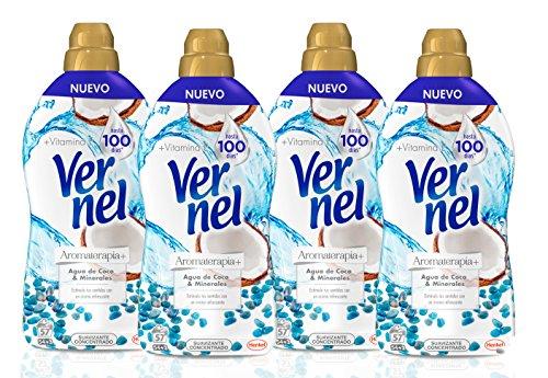 Vernel Aromaterapia Suavizante para la ropa Concentrado Coco - Pack de 4,...