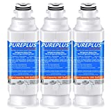 PUREPLUS DA97-17376B Water Filter Replacement for Samsung HAF-QIN, HAF-QIN/EXP, DA97-08006C, RF23M8070SG, RF23M8070SR, RF23M8090SG, RF23M8090SR, RF23M8570SR, RF23M8590SG Refrigerator, 3Pack