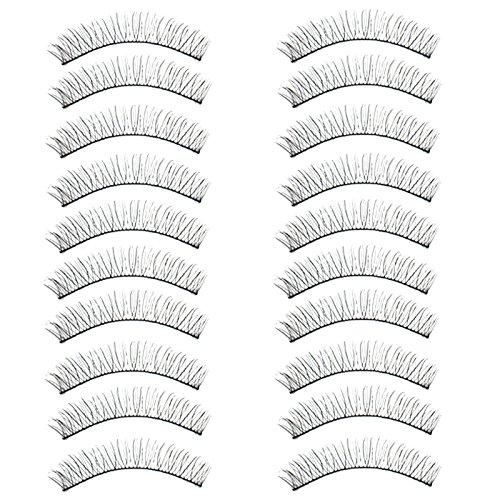 Nourich Luxe 3D Fau Cils,Partie Naturelle Longue Cils,Ultra-Minces RéUtilisables Noir Eyelashes Cils Naturel, Pour Maquillage MagnéTiques Pour Charmants Cils