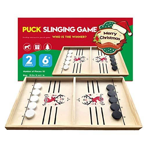 Dunmo Juegos de hockey de mesa de Navidad Pucks juguetes para juguetes adultos del juego de la familia del niño