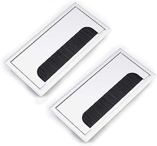 AYUN Cable de pasacables Tapa del Orificio 3 Piezas Negro Duro pl/ástica Apta para el Escritorio de la computadora