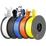 【5Rolls/Pack】SIMAX3D 1.75mm PLA Filament 5kg/Pack (11.02lbs) Tolerance 0.05mm for 3D Printer Impresora 3D Filament (Black/ Blue/ Yellow/ White/ Orange)