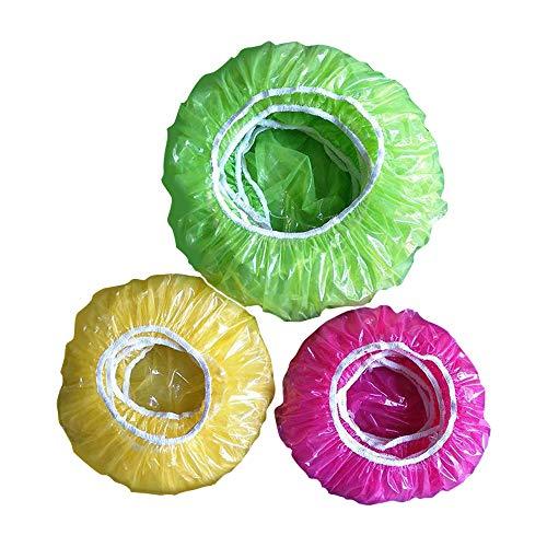 IWILCS - Funda protectora de alimentos Tapa de plástico para alimentos (60 unidades, reutilizable), diseño de caseta