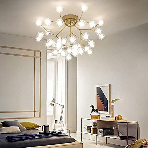 Moderne plafondlamp, Sputnik Kroonluchter met 15 27 45 verlichting, Flush Mount plafondlamp met glazen bollen schaduw voor slaapkamer eetkamer, 15Light