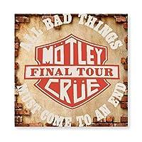 MOTLEY CRUE モトリー クルー ロゴ 木製 額縁 フォトフレーム 壁掛け 木製 横縦兼用 絵を含む 40×40cm