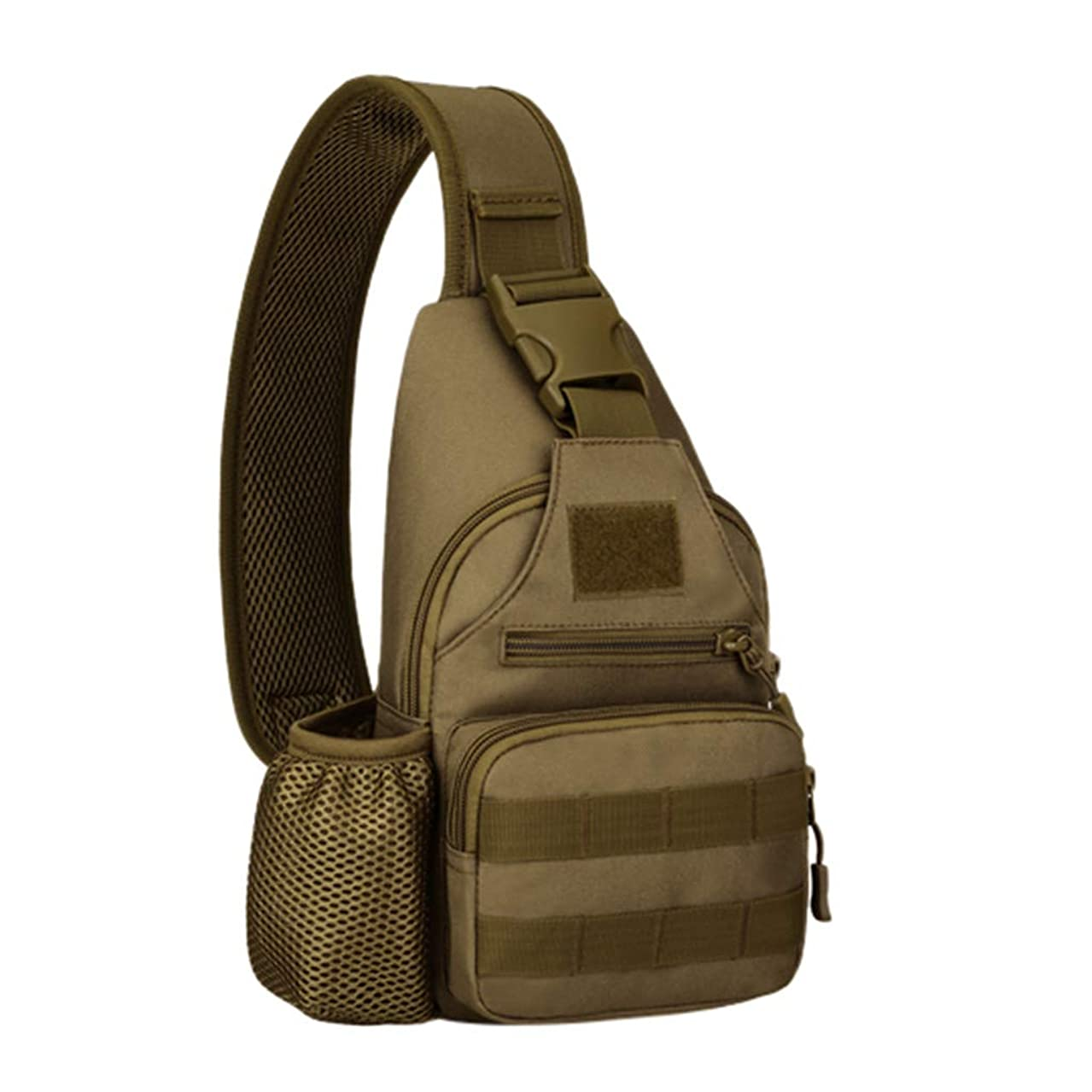 Tactical Shoulder Chest Bags, Inkach Military Sling Pack Backpack for Hiking Cycling Climbing Camping Trekking Travelling Messenger Cross-Body Bag (B)