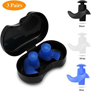 SYOSIN Swimming Ear Plugs, 3 Pairs Professional...