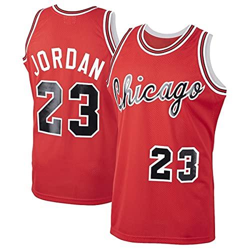 WSWZ Camisetas De Baloncesto De La NBA para Hombre - Bulls 23# Michael Jordan Camiseta De La NBA - Chalecos Cómodos Casuales Camisetas Deportivas Camisetas Sin Mangas,A,L(175~180CM/75~85KG)
