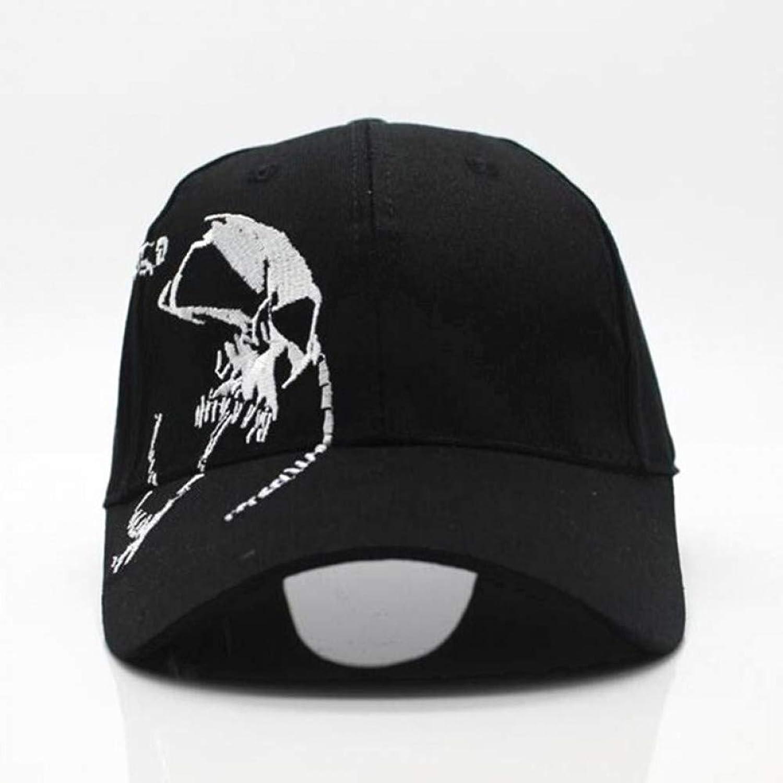 JINRMP Unisex 100% Cotton Outdoor Baseball Cap Skull Embroidery Snapback Fashion Sports Hats