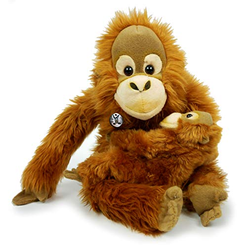 Peluche de Orang Utan Jasinga con mono de bebé (30 cm)