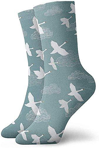 iuitt7rtree Halloween Cosplay Socke, Custom Neuheit Socken, Funny Socken, Casual Crew Socken, Damen/Herren Sportsocken, Crane Flying 30CM Fußball Socken Classic Socken Tube Socken
