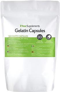 Your Supplements - Maat 00 Lege Gelatine Capsules (500)