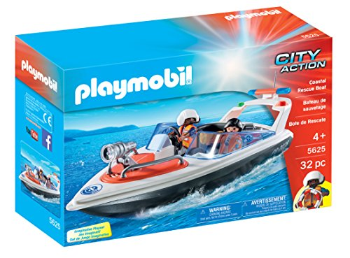 PLAYMOBIL 5625 Coastal Rescue Boat Playset