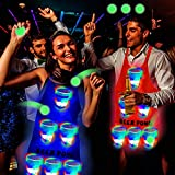 Six Senses Media Light Up Beer Pong Apron Fun Game, Flashing Color Beer Pong Cups of Beer Pong Apron for House Parties Birthdays Concerts Weddings BBQ Beach DJ Holidays