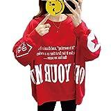 Jersey Suéter Sweater Sudaderas con Capucha Mujer Letra Simple Impreso Casual Sudaderas De Gran Tama...