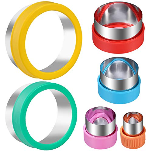 Round Cookie Biscuit Cutter Set, 6 Graduated Circle Pastry Cutters, Stainless Steel Cookie And Dough Cutters for Donut and Scone, Circle Cutter Cake Ring Molds