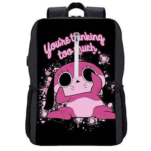 Maromi Youre Thinking Too Much Paranoia Agent Rucksack Daypack Bookbag Laptop Schultasche mit USB-Ladeanschluss