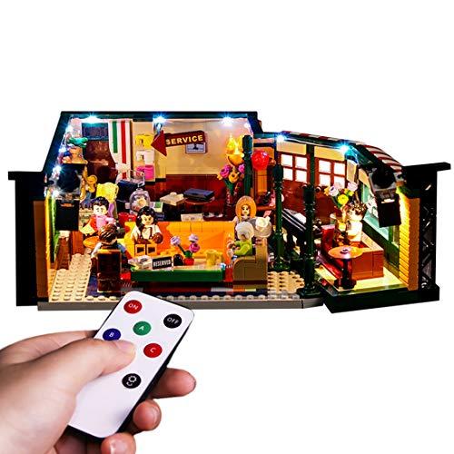 Yavso Kit de Luces para Lego Central Perk 21319, Kit de Iluminación Led Luz Compatible Lego 21319 Modelo, Juego de Legos no Incluido - Versión de Control Remoto