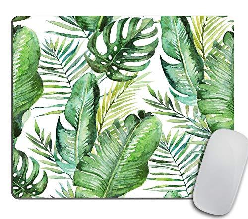 Coseevel 2530 Green Tropical Palm & Fern Leaves Mouse Pad Tropical Palm Leaves Mouse pad for Office Banana Leaf Jungle Mousepad