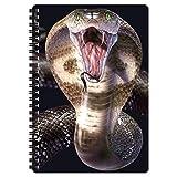 3D LiveLife Libreta A5 - Cobra de Deluxebase. 80 páginas de bloc de notas lenticular 3D de serpiente e ilustraciones con licencia del reconocido artista Joh Naito