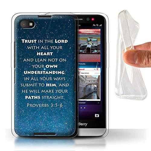 Hülle Für BlackBerry Z30 Christliche Bibel Vers Trust In The Lord/Proverbs Design Transparent Dünn Weich Silikon Gel/TPU Schutz Handyhülle Case