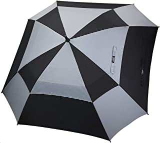 Extra Large Golf Umbrella 62 Inch Vented Square Umbrella Windproof Auto Open Double Canopy Oversized Stick Umbrella