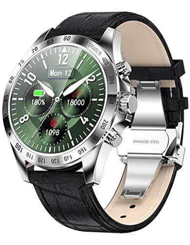 Smartwatch Herren Touchscreen Bluetooth Fitness Armband Pulsuhr Uhr mit Blutdruckmessung für Android IOS Schrittzähler Kalorienzähler Wasserdicht Laufuhr Sport