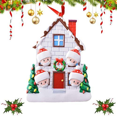 ZHOUZHOU Ornamento de Árbol Navidad,2020 Adorno navideño,Adorno de Familia Sobrevivido,Christmas Ornament 2020,Decoraciones para árboles de Navidad,Adornos para árboles de Navidad (1)